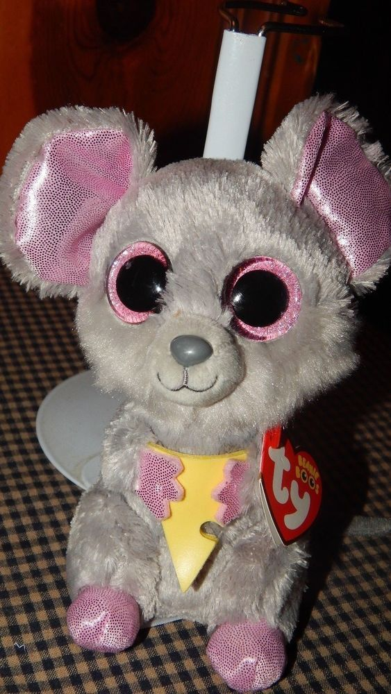 TY Beanie Boo Plush - Squeaker the Mouse 6-Inch Stuffed Animal Toy W  Hang  Tag  TyBeanieBoos f3665916fcbb