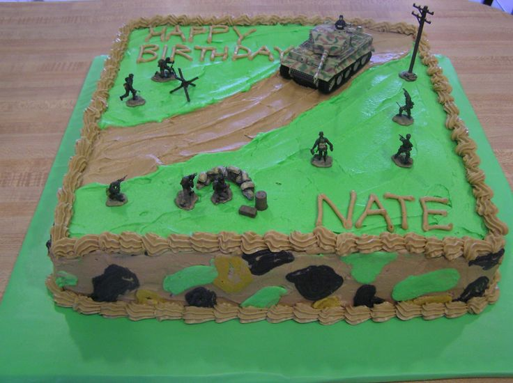 boy army birthday cake | army cake — Children's Birthday Cakes