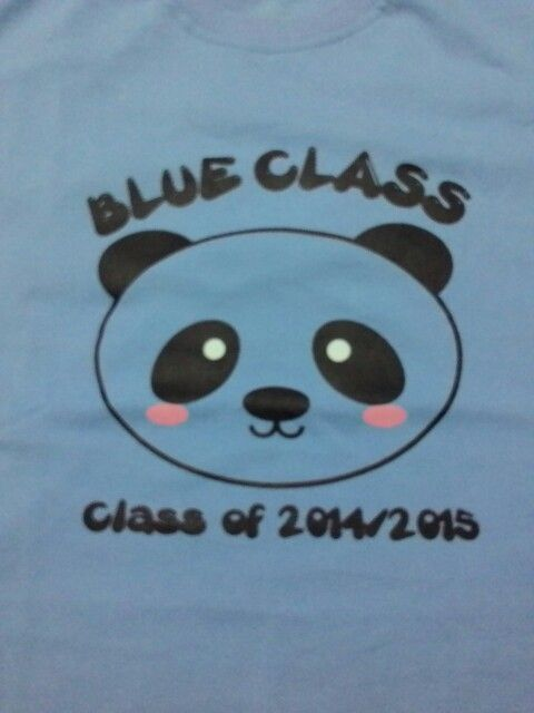 New t-shirt of Blue Class..