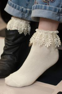 Ankle Socks with Venice Lace