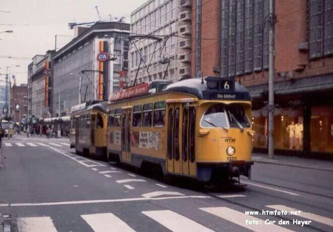 PCC trams in Den Haag +-1980