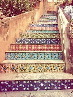 bohemian Stairs vacation decor Explore exotic gypsy wanderlust ...