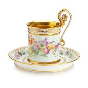 A Sèvres cabinet cup and saucer 1848