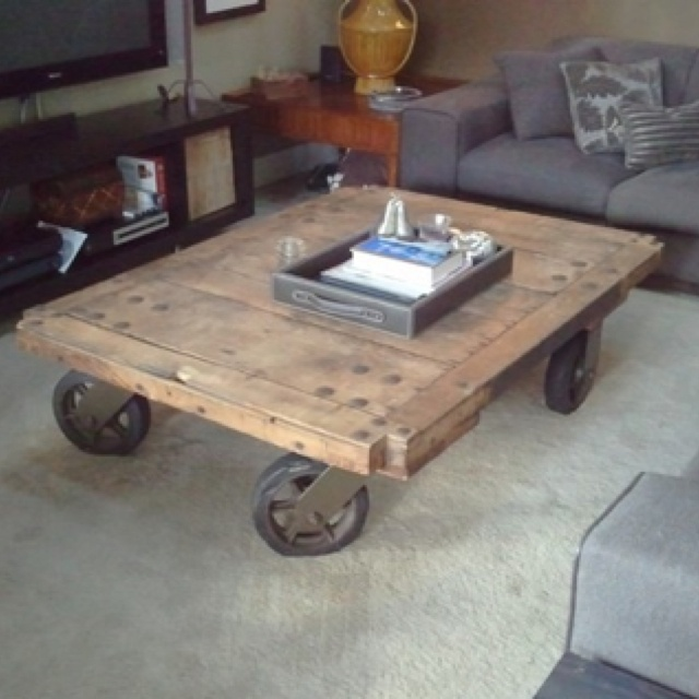 Railroad Cart Coffee Table | I Love Casters | Pinterest | Cart Coffee Table,  Tables And Living Rooms