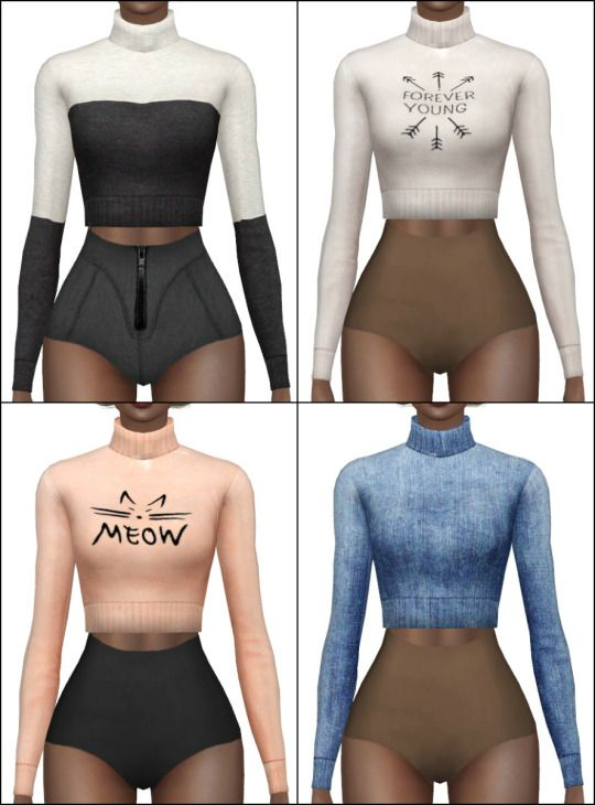 Turtleneck sweater retexture at Hallow Sims via Sims 4 Updates