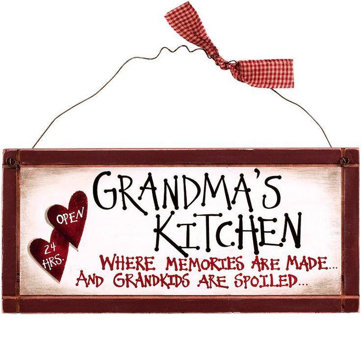 Grandma's Kitchen where Memories are Made Sign