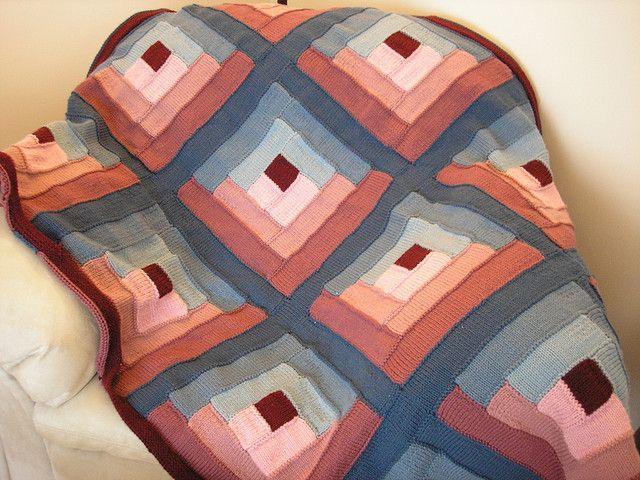 Ravelry Log Cabin Quilt Afghan Pattern By Bernat Design