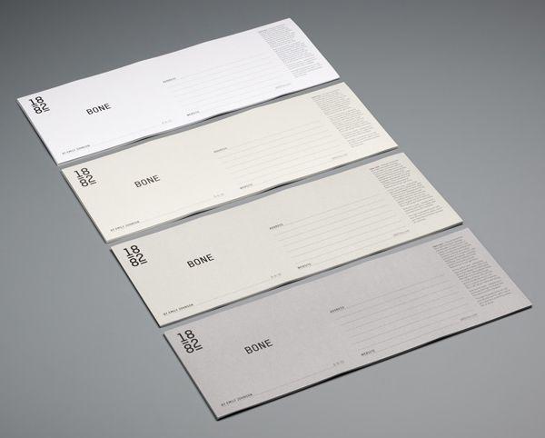 Identity and stationery created for ceramics designer Emily Johnson by Pentagram.