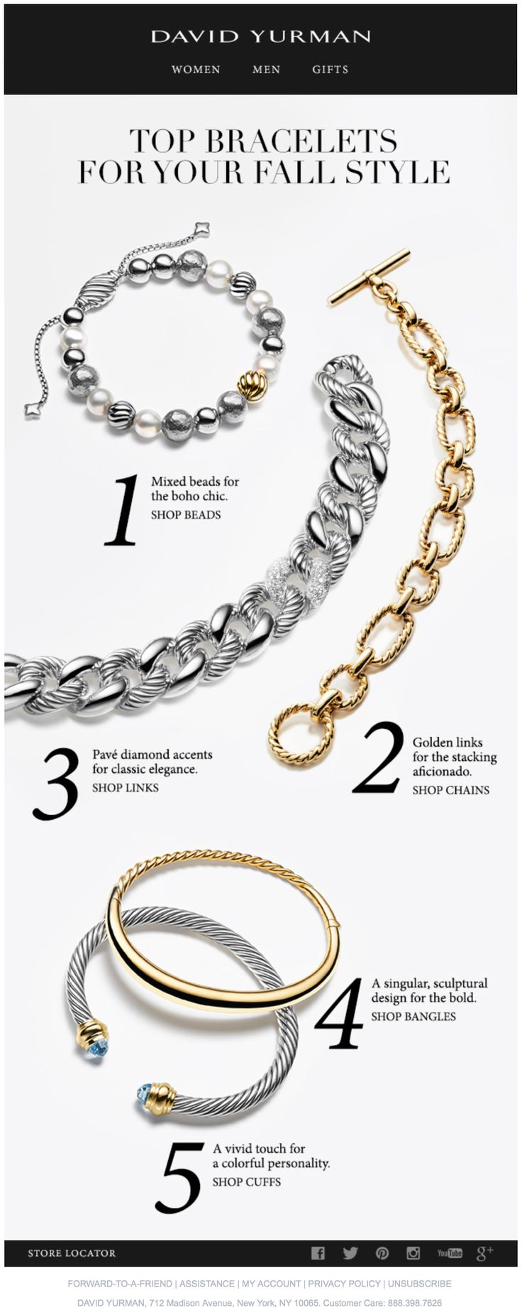 DAVID YURMAN Bracelets for Every Style
