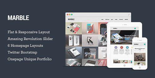 ThemeForest - Marble v1.0 - Flat Responsive HTML5 Template http://templates.jrstudioweb.com/