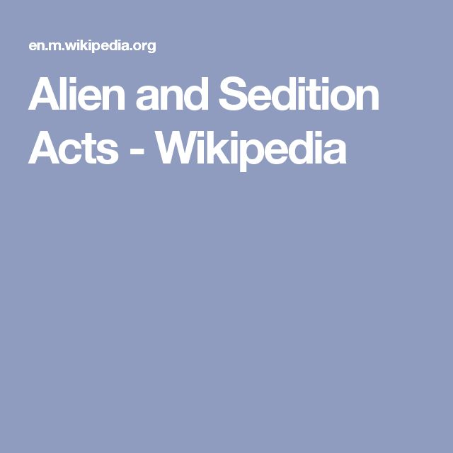 an introduction to the origins the sedition act of 1798 Definition of sedition act the sedition act of 1918 was not the first sedition act in us history free speech in wartime from the sedition act of 1798 to.