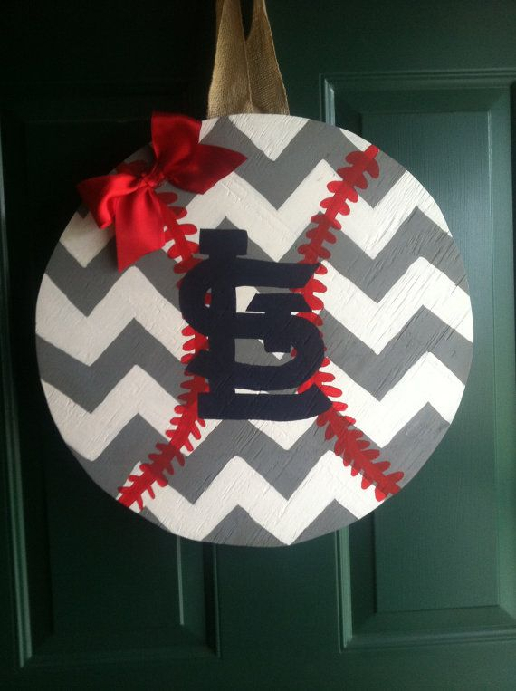 St. Louis Cardinals Door Hanger by BootsiesBowtique on Etsy, $30.00