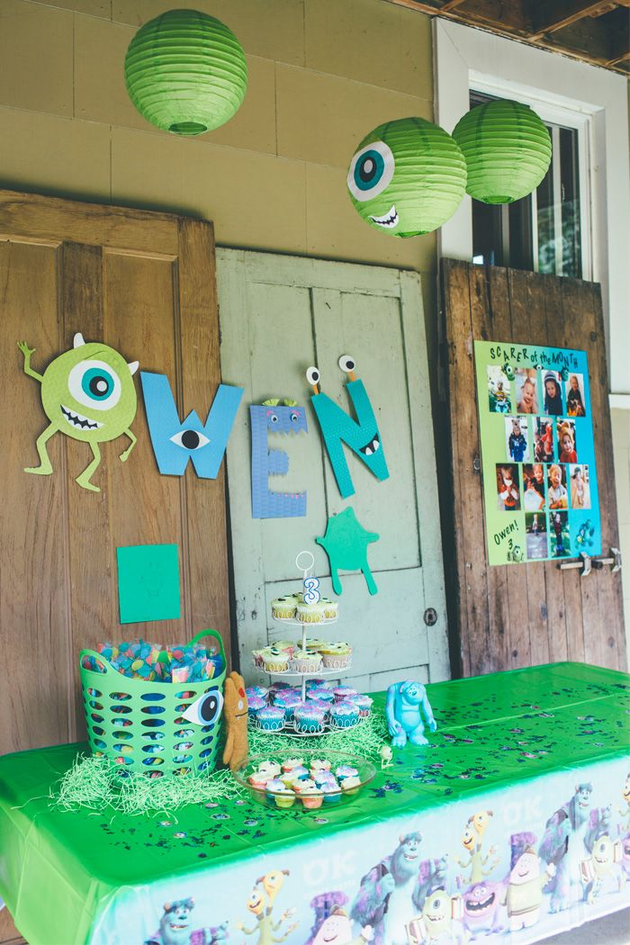 Thoughts from Alice: DIY Monster's Inc. Birthday Party