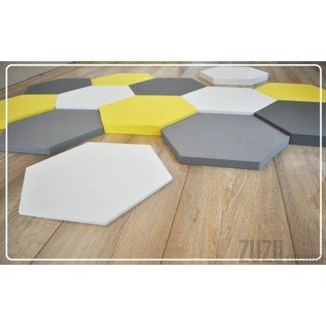 Biało-żółto-szare plastry miodu