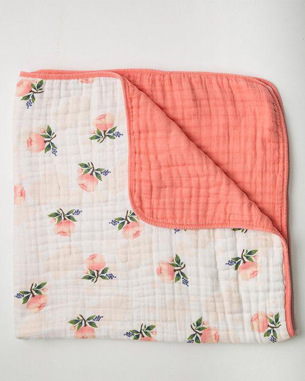 Cotton Quilt - Watercolor Rose