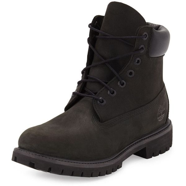 Timberland 6 Premium Waterproof Hiking Boot ($190) ❤ liked on Polyvore featuring men's fashion, men's shoes, men's boots, black, timberland mens shoes, mens black boots, mens black waterproof boots, mens waterproof hiking boots and mens waterproof boots