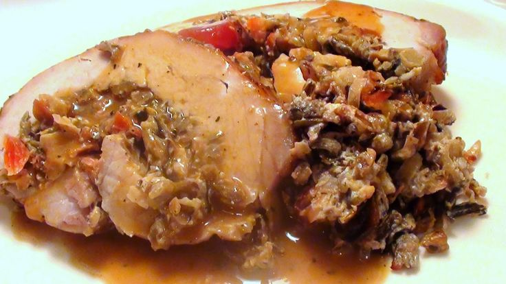 Lyndsay The Kitchen Witch: Roasted Pork Loin with Wild Rice Stuffing