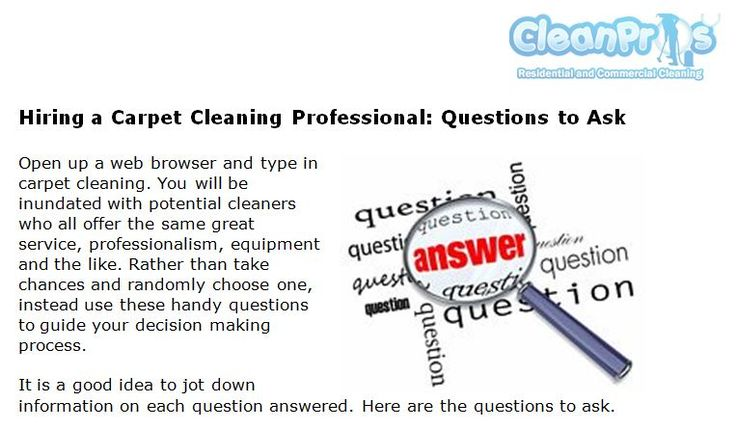 http://cleanproscarpetcleaning.com/hiring-a-carpet-cleaning-professional-questions-to-ask - When you searching around for the best carpet cleaning company to clean your carpets, there are a few questions you need to ask in order to make an educated decision on who to hire.