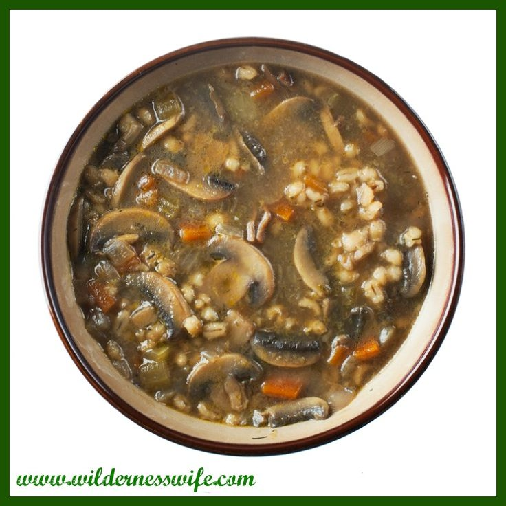 Slow Cooker Mushroom Barley Soup makes a great fall supper after a chilly day of working outside.