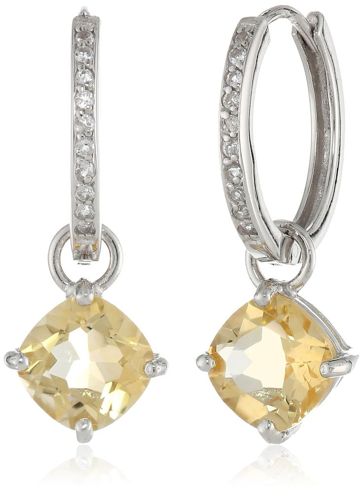 39 41 At Amazon Com Sterling Silver Citrine Earrings