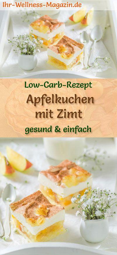 Low Carb Apfelkuchen mit Cinnamon Cream Dome: Low Carb Rezept ohne Zucker und Getreide …   – Low Carb Kuchen Rezepte