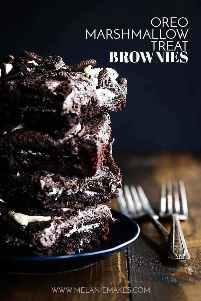 These Oreo Marshmallow Treat Brownies Are What Oreo Lovers Dream
