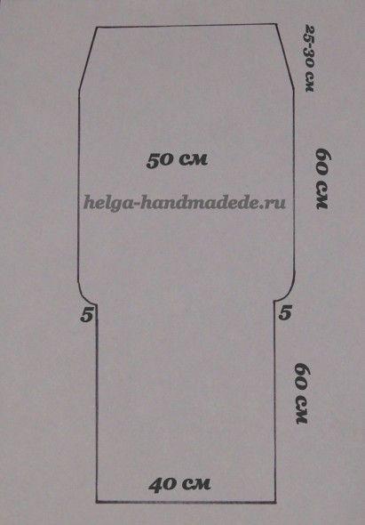Выкройка конверта кокона на выписку