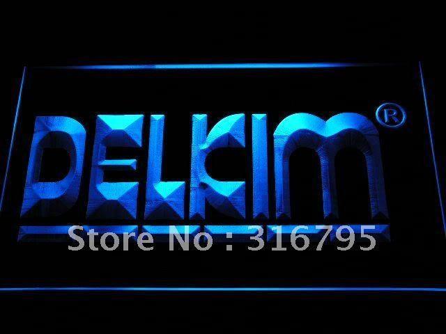 Delkim Fishing Logo LED Sign