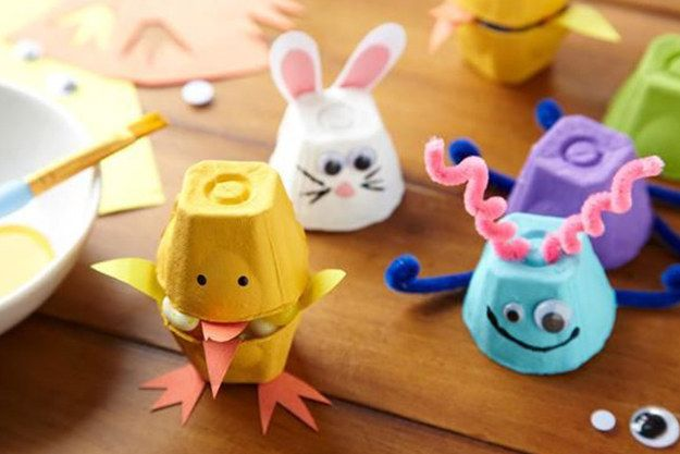 Create these clever egg-carton friends.