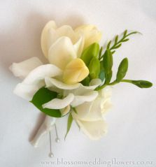 Mother Of The Bride S Corsage With Cream Freesia