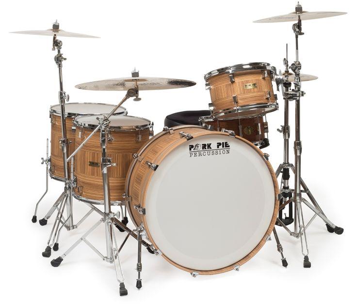 Custom Drum Kits | Home / DRUM KITS / Pork Pie Custom John Bonham Drum Set, 4 Piece
