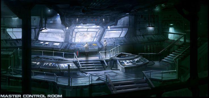 cyberpunk atmosphere future futuristic sci fi master control room