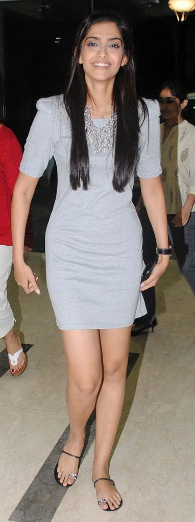 Sonam Kapoor Style: Bollywood Celeb Style. Sonam Kapoor wearing Alexander McQueen sandals.