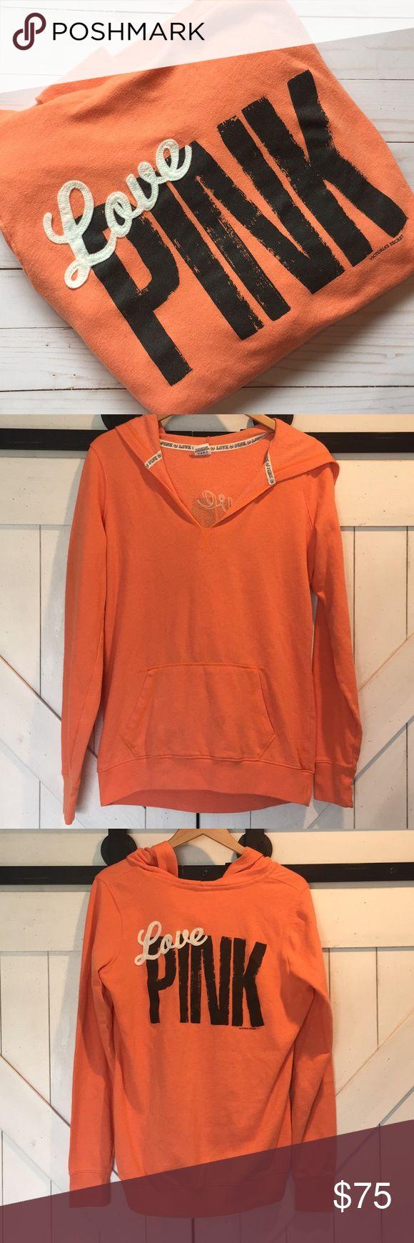 PINK vs hoodie Super comfy vs PINK orange creamsicle-colored vneck hoodie .. the…