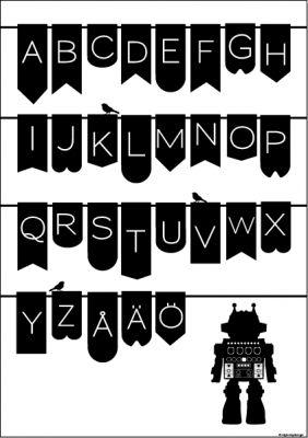 ABC Robot Affisch A3 Hittar du hos www.barabokstaver.se