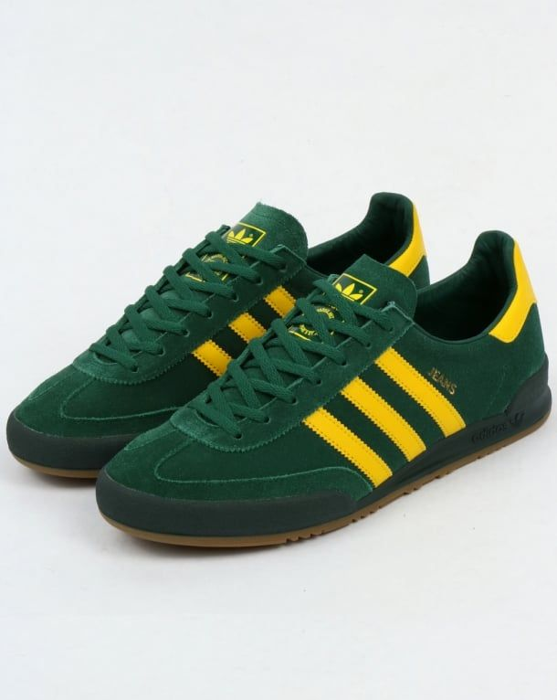 huge selection of 67afd 24900 Adidas Jeans MK2 Trainers Green Yellow,shoes,Suede,Originals,Mk1