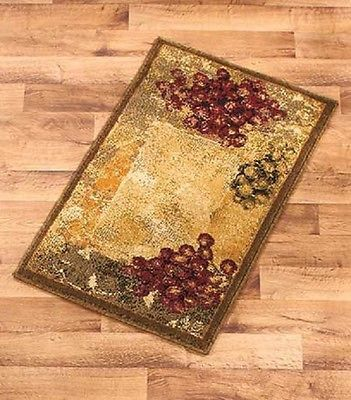 Accent Rug Vineyard Grape Grapes Tuscan Rustic Home Decor