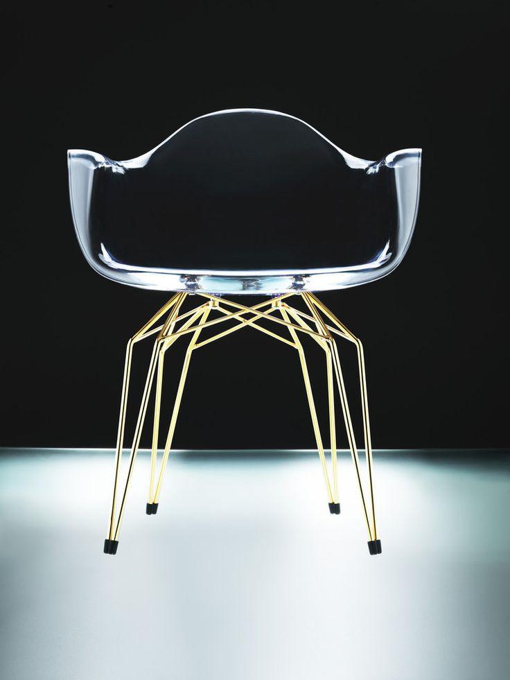 diamond #armchair with gold legs via designer wallace #furniture #design