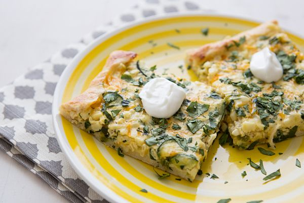 Fresh Corn, Poblano & Cheddar Pizza and other vegetarian recipes