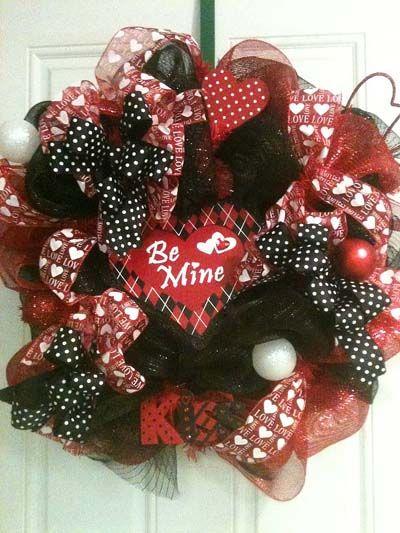 valentine mesh wreath idea | Valentine Wreaths - Holiday Dressings by Shelia Trendy Tree Blog
