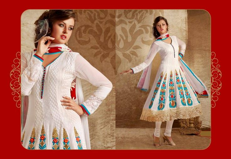 Sizzle up in Indian #ethnic wear. Take a breather and let the sparkling white attire add grace to your ethnic look.
