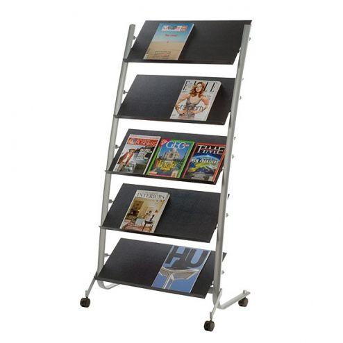 Large Mobile Literature Rack