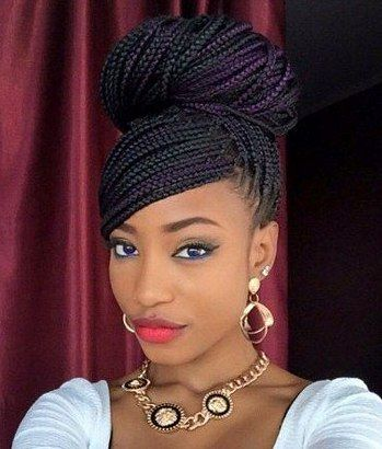Easy to do long box braids hairstyles. Ways to style your box braids. Exquisite long box braid hairdo. Rocking box braid hairstyle. Ideas about box braid.