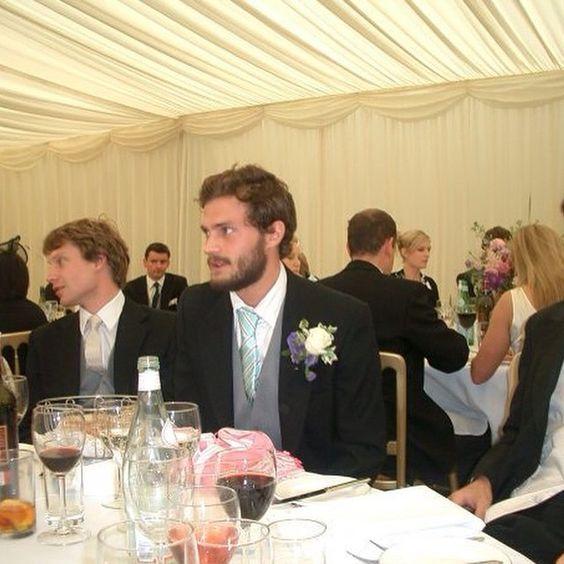 Jamie Dornan at a friends wedding