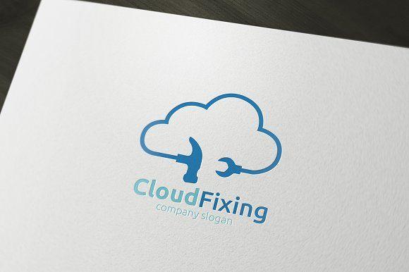 Cloud Fixing Logo by rotree_man on @creativemarket
