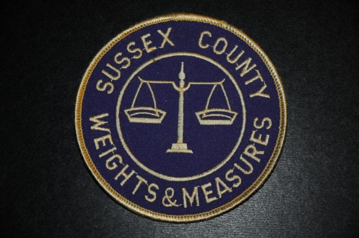 Weights & Measures Police patches, Sussex county, Site