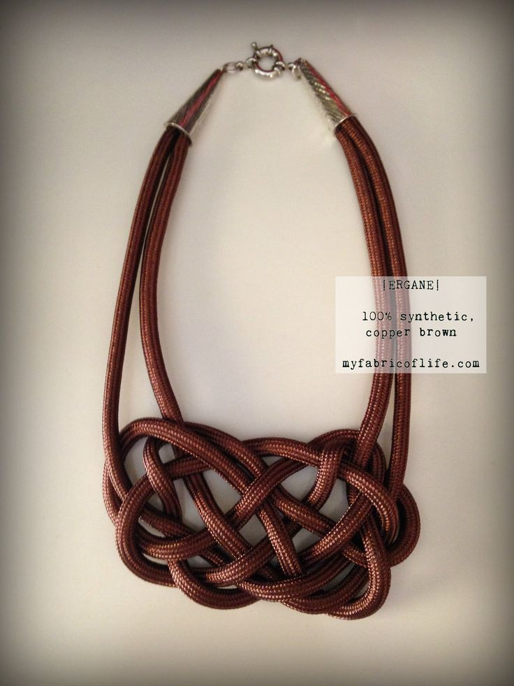 MY FABRIC OF LIFE| 'Ergani' in synthetic, copper brown.  #myfabricoflife #fall15 #collection #designs #fashion #handmadewithlove #fabric #necklace