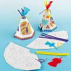 Native American Arts and Crafts activities for children...now I know how to construct, but would use plain paper with 4th/5th.