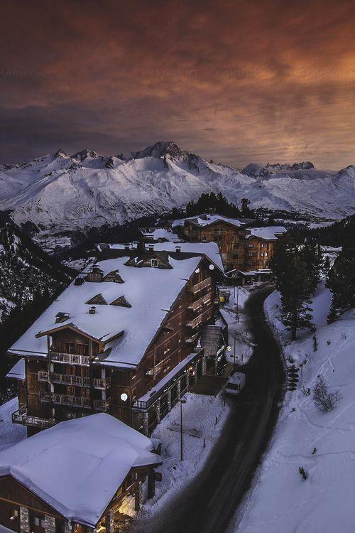 Les Arcs at Dusk, French Alps - Furkl.Com
