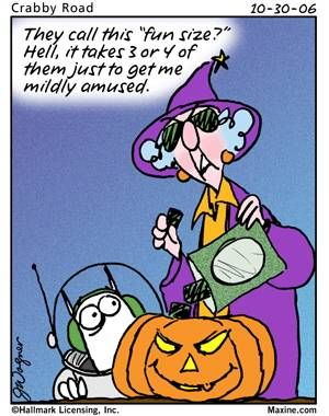 Maxine Halloween comics | Humorous Maxine Halloween Cartoons | Shibley Smiles